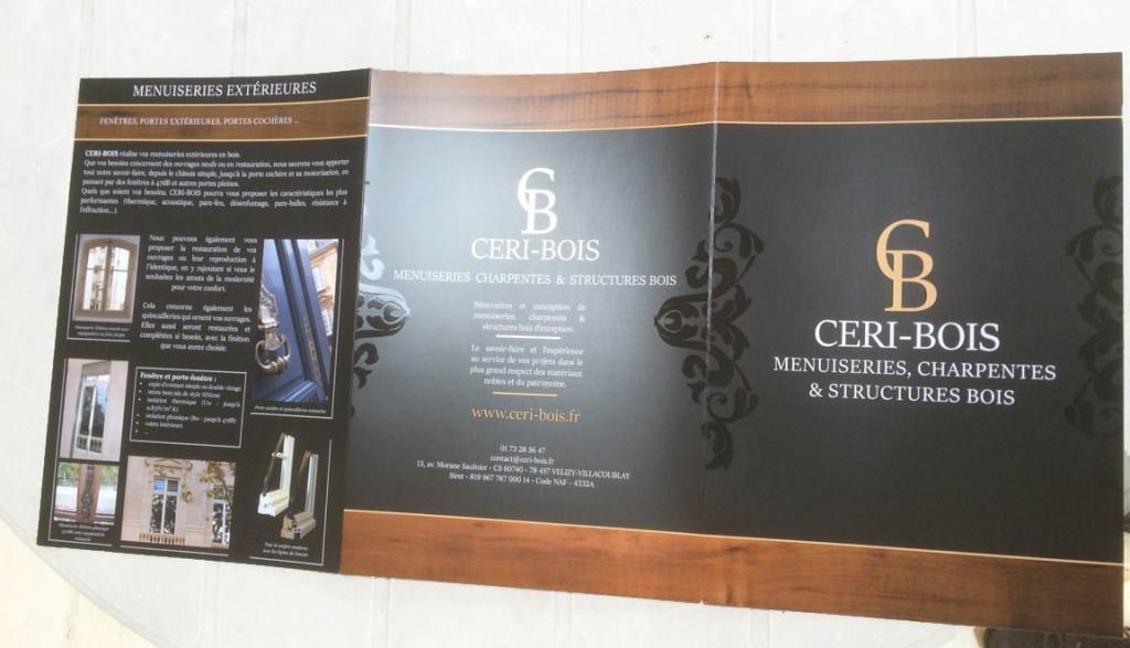 CERI-bois - logo, plaquette cartes de visite, site web par L'Agence de Com'