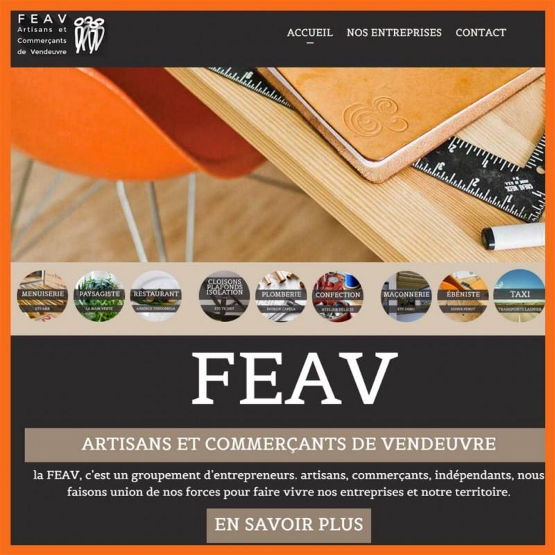 Site web pour le groupement d'entrepreneur FEAV par l'Agence de Com'