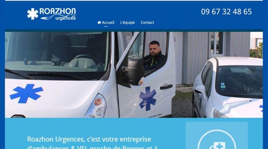 site internet - roazhon urgences - Agencedecom.net