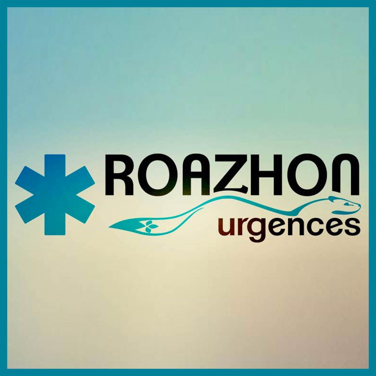 Roazhon Urgences - logo, site web et documents commerciaux par l'Agence de Com'